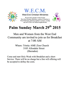 Palm Sunday 2015 Flyer