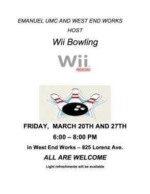 Wii Bowling Flyer 2